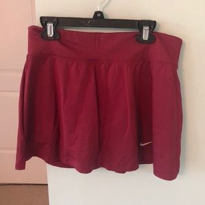NIKE Maroon Workout Skirt with built in Spandex